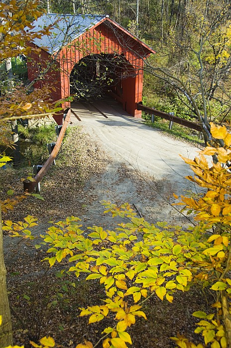 Architecture Photograph - Slaughter House Bridge And Fall Colors by James Forte