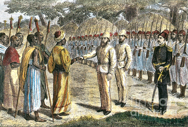 History  - Slave Trader Surrenders To Baker, 1869 by Photo Researchers