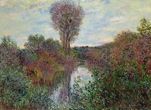 Small Painting - Small Branch Of The Seine by Claude Monet