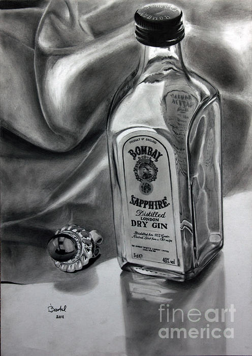 Still Life Drawing - Smooth Talk Sweet Reward by Gabor Bartal