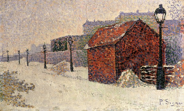 Snow Painting - Snow Butte Montmartre by Paul Signac