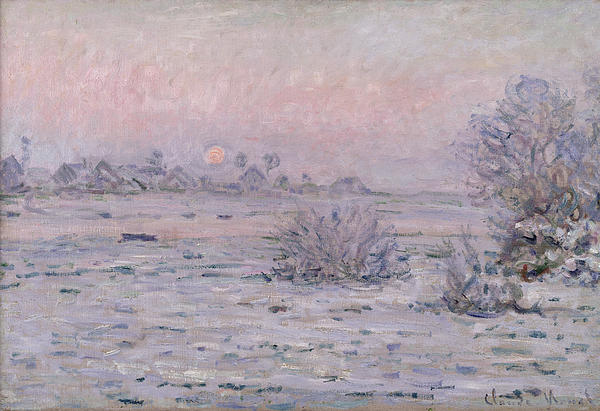 Claude Monet Painting - Snowy Landscape At Twilight by Claude Monet
