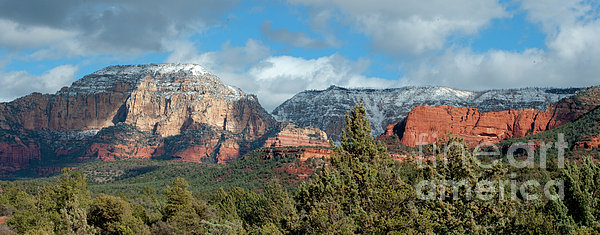 Southwest Photograph - Snowy Sedona Afternoon by Sandra Bronstein