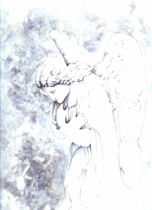 Angel Painting - Solace Angel by Lisa Buchanan