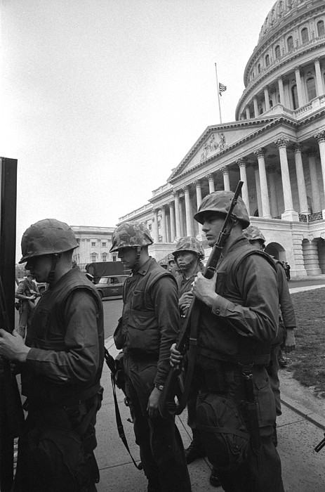 History Photograph - Soldiers Stand Guard Near Us Capitol by Everett
