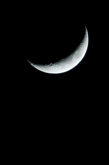 Moon Photograph - Solo by Heide Rainey