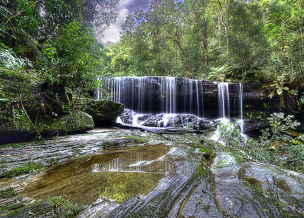 Waterfall Photograph - Somersby Falls by Barry Culling