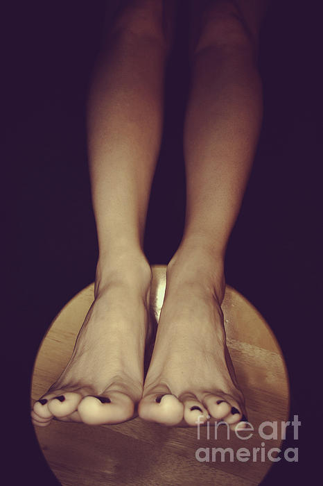 Feet Photograph - Somewhere In The Dark by Tos Photos