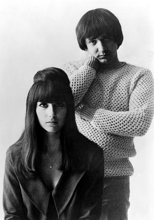 1960s Photograph - Sonny & Cher, Sonny Right, Cher Left by Everett