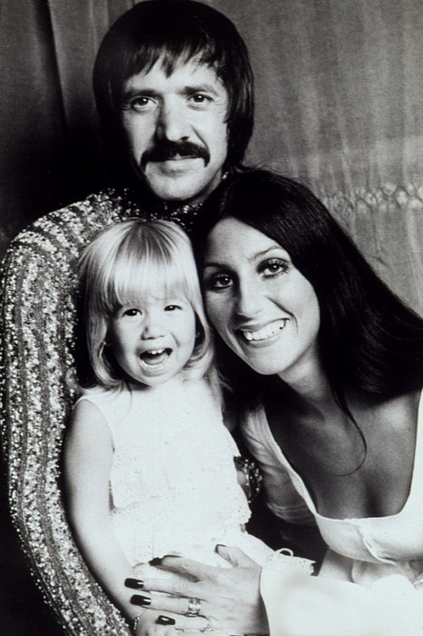 Bono Photograph - Sonny & Cher With Daughter Chastity by Everett