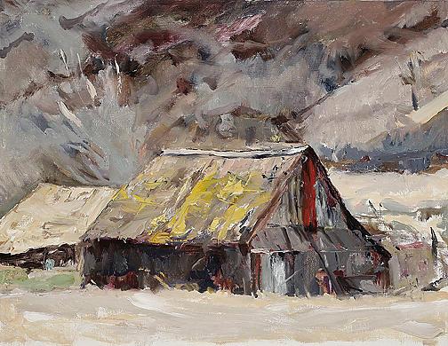 Southwest Art Barn Painting by Joyce Snyder