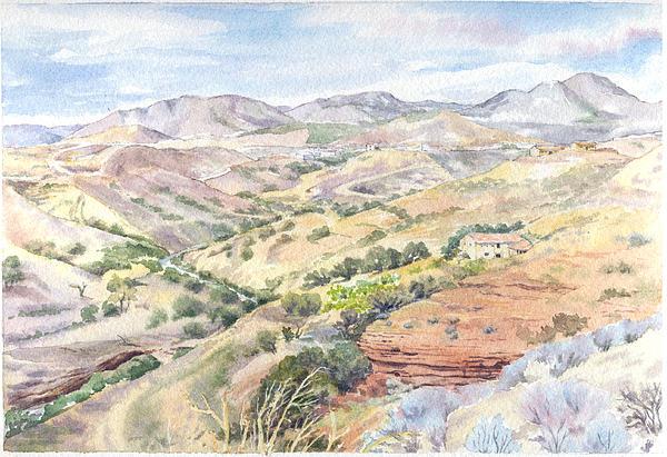 Landscape Painting - Spanish Sierra by Maureen Carter