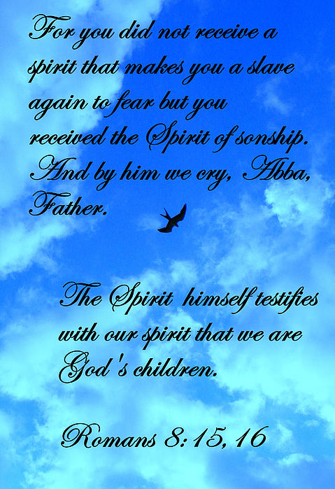 Scripture Photograph - Spirit Of Sonship by Sheri McLeroy