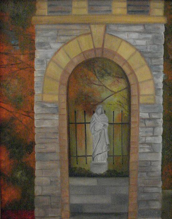 St. Elizabeth's Catholic Church Painting - St. Elizabeths by Shiana Canatella