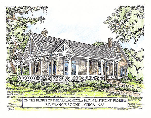 Francis Drawing - St Francis Sound Circa 1933 by Audrey Peaty