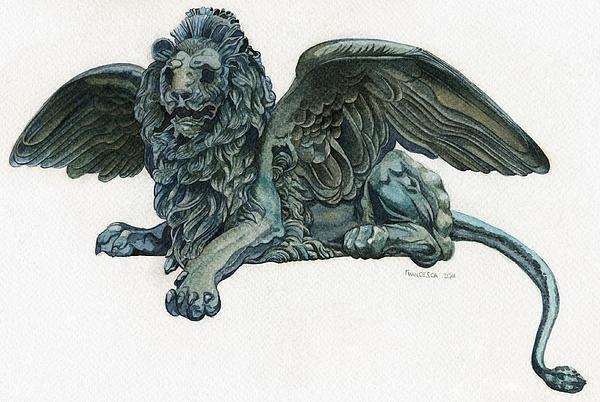 Venice Painting - St. Marks Lion by Francesca Zambon