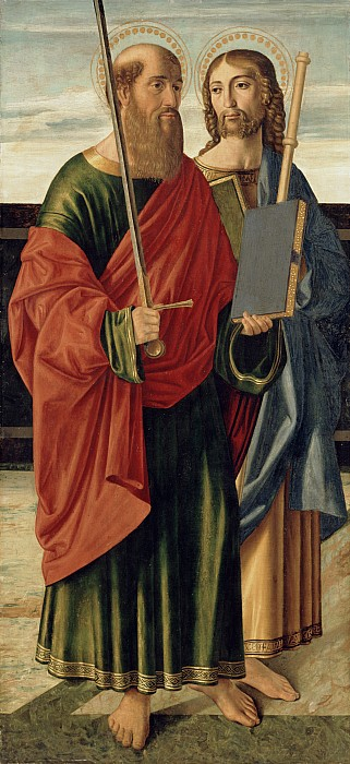 Paul Painting - St. Paul And St. James The Elder by Cristoforo Caselli