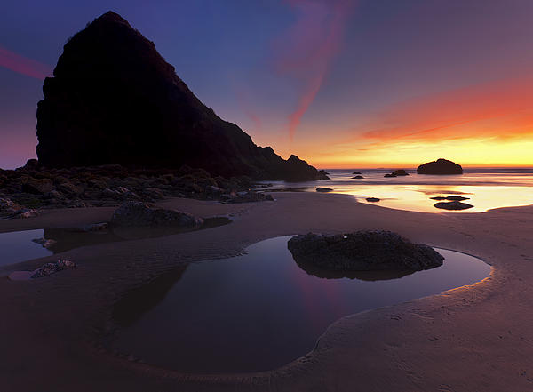 Seastacks Photograph - Stacked Reflections by Mike  Dawson