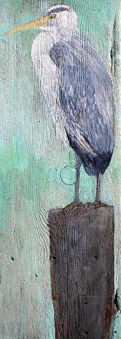 Egrets Painting - Standing Heron by Lisa Baack