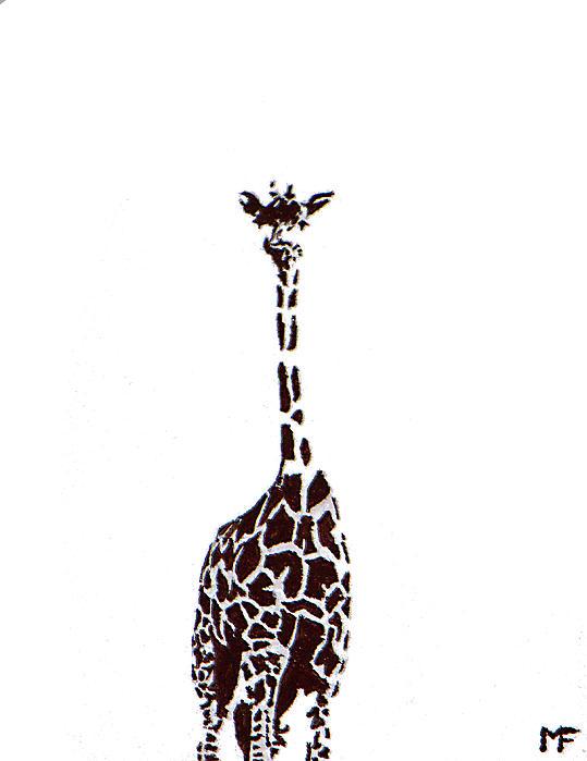 Giraffe Painting - Standing Tall by Matthew Formeller