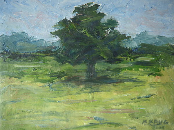 Landscape Painting - Standing Tree by Ken Krug