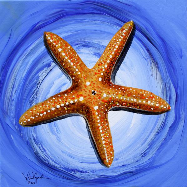 Starfish Painting - Star Of Mary by J Vincent Scarpace