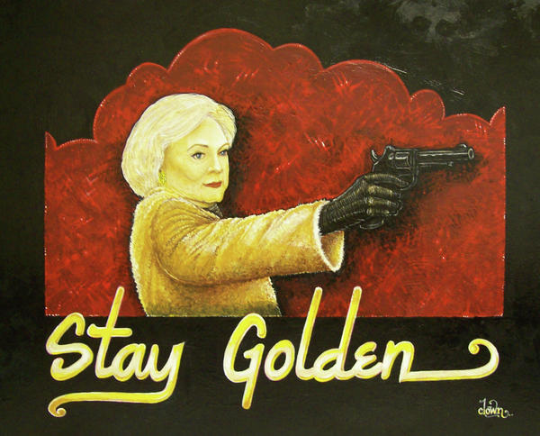 Betty White Painting - Stay Golden by Matthew Powell