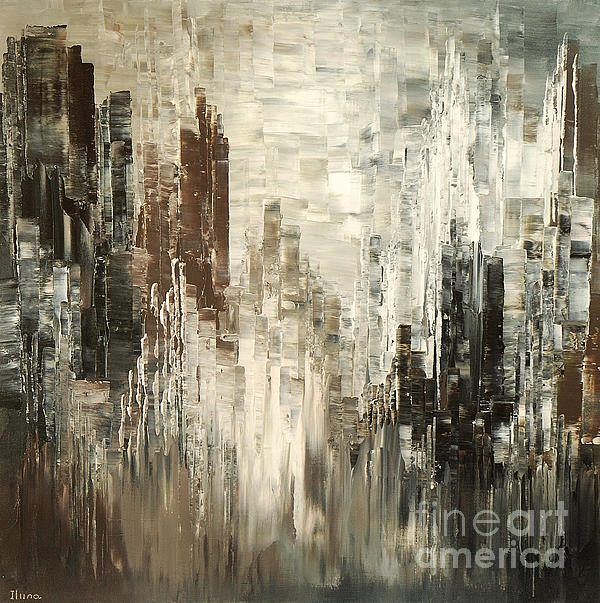 Steel towers painting by tatiana iliina Fine art america