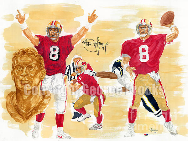 Steve Young Painting - Steve Young - Hall Of Fame by George  Brooks