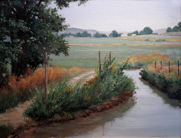 Still Water-irrigation Painting by Victoria  Broyles