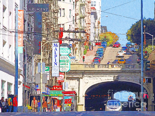 San Francisco Photograph - Stockton Street Tunnel In San Francisco . 7d7355 by Wingsdomain Art and Photography