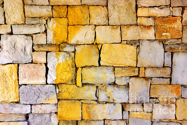 Abstract Photograph - Stone Wall by Carlos Caetano