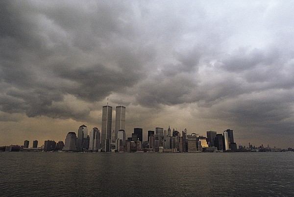 North America Photograph - Storm Clouds Over Lower Manhattan by Medford Taylor