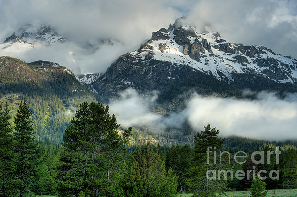 Hdr Photograph - Storm  In The Tetons by Sandra Bronstein