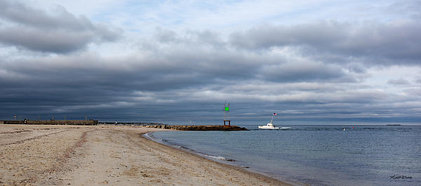 Sand Photograph - Stormy Evening Bass River Jetty Cape Cod by Michelle Wiarda