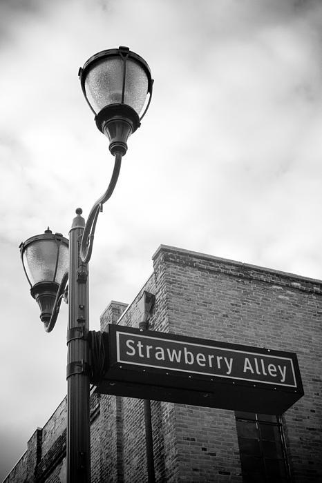 Window Photograph - Strawberry Alley by Paul Bartoszek