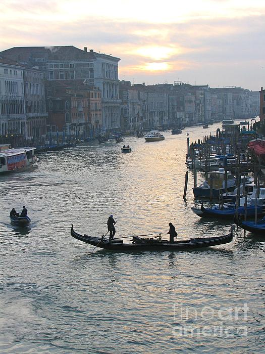Travel Photograph - Streets Of Venice by Regina  Visconi
