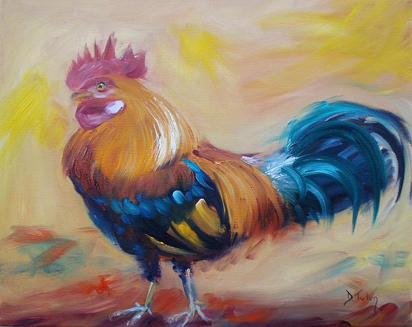 Rooster Painting - Struttin My Stuff by Donna Tuten