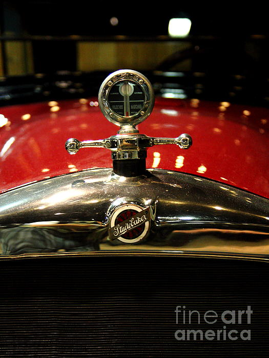 Transportation Photograph - Studebaker Hood Ornament by Wingsdomain Art and Photography
