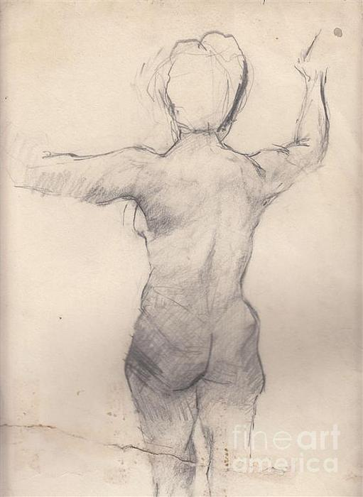 Pencil Drawing - Study 1 by Brian Francis Smith
