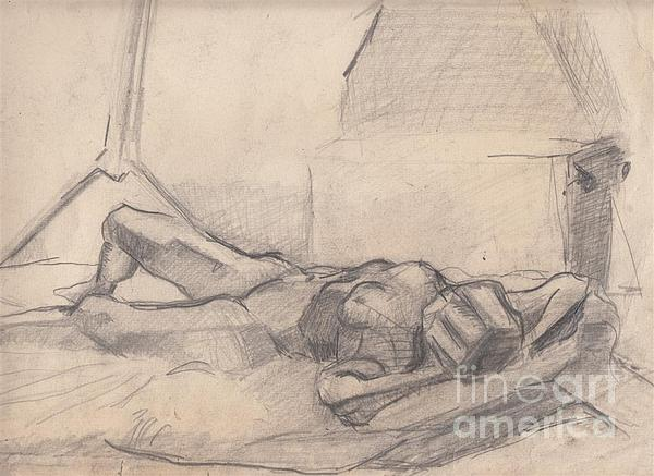 Nude Drawing - Study 10 by Brian Francis Smith