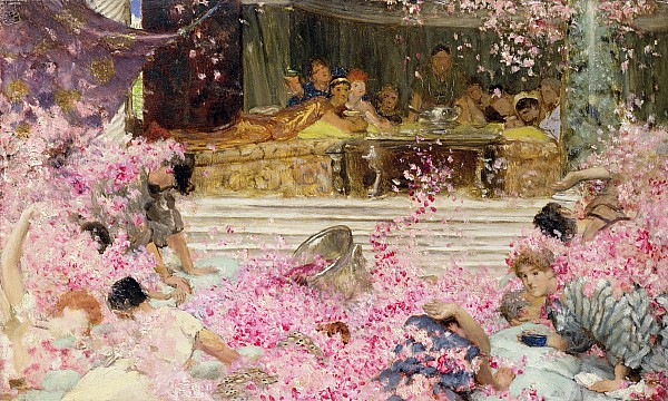 Study Painting - Study For The Roses Of Heliogabulus by Sir Lawrence Alma-Tadema