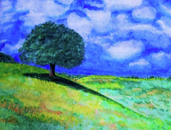 Landscape Painting - Summer Shade by Jeanette Stewart