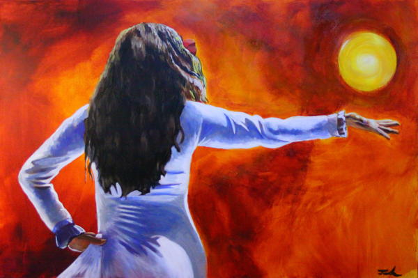 Acrylic Painting - Sun Dancer by Jerry Frech
