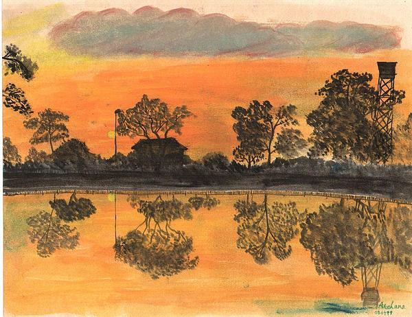 Painting - Sun Set  by Archana Saxena