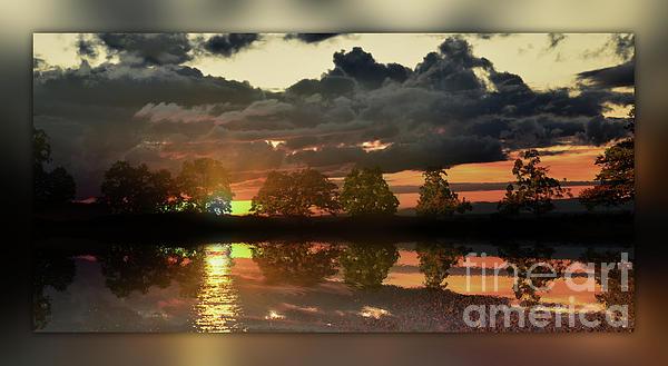 Photo Painting. Sundown Photograph - Sundown In The Lake by Bruno Santoro
