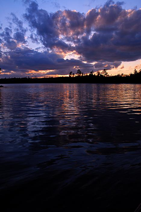 Spoon Lake Photograph - Sunet On Spoon Lake by Larry Ricker