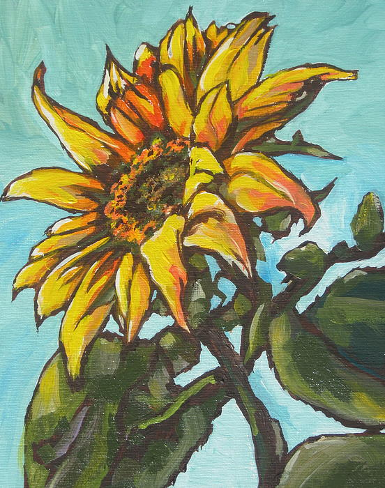 Sunflower Painting - Sunflower 1 by Sandy Tracey