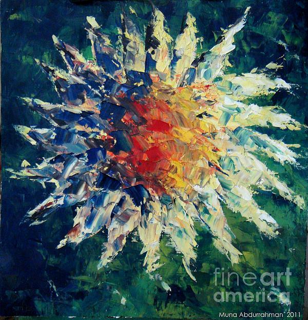 Sunflower Painting by Muna Abdurrahman