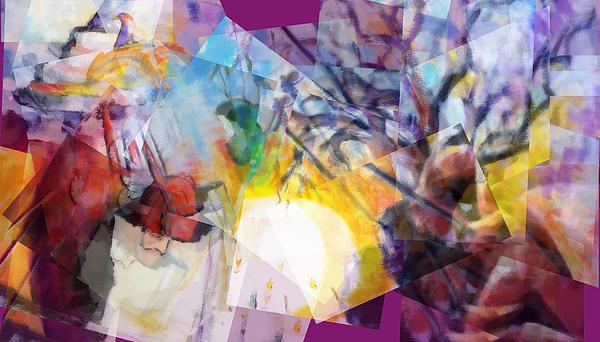 Santeria Painting - Sunrise In Havana by J Christian Sajous